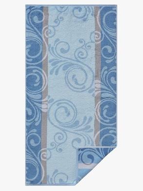 Handtuch - bleu-gemustert