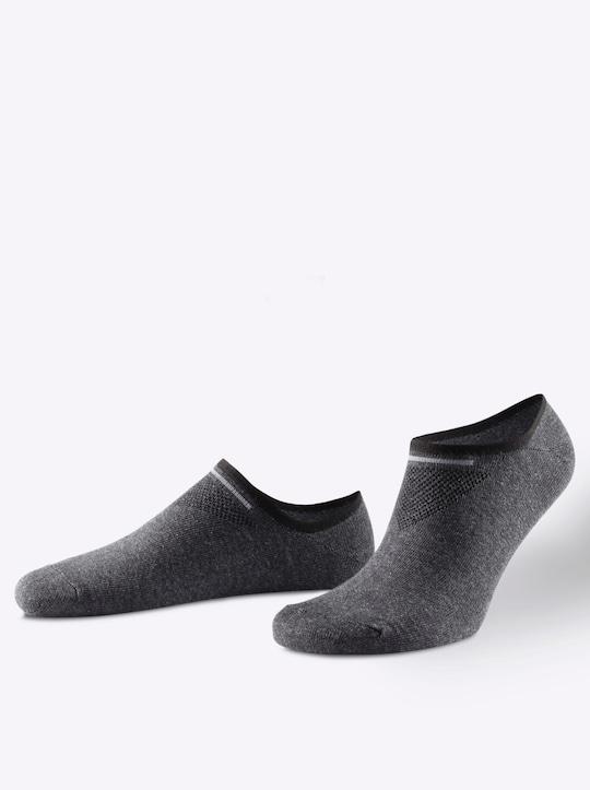 wäschepur Sneakersocken - anthrazit