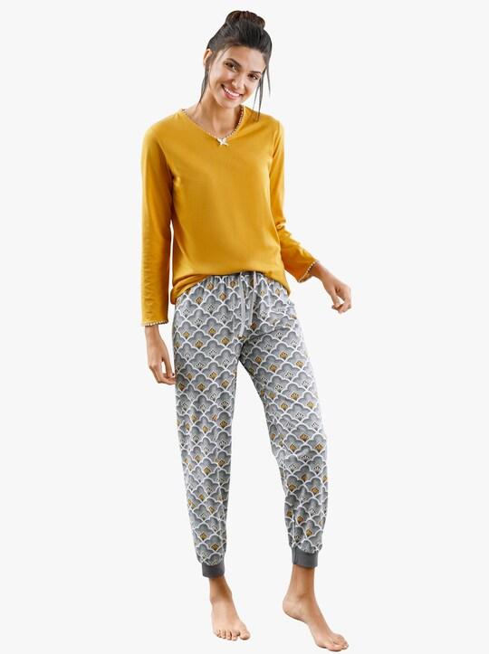 wäschepur Schlafanzug-Shirt - ocker