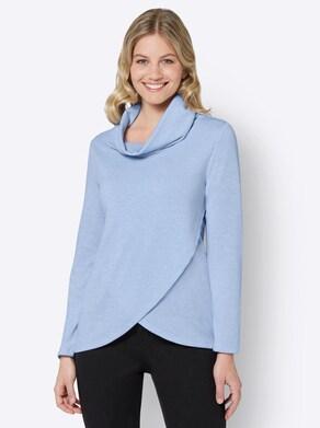 Shirt - taubenblau-meliert