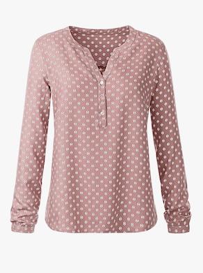 Bluse - rosé-bedruckt