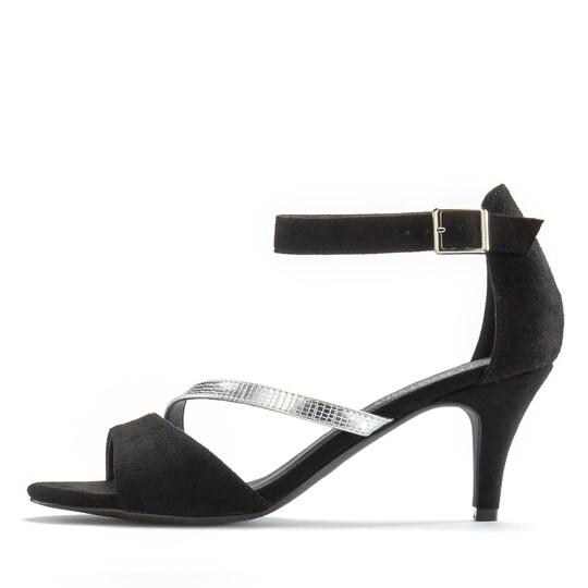 LASCANA Sandalette - schwarz-silberfarben