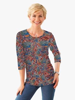 Shirt - zimt-gemustert