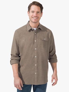 Hemd met lange mouwen - taupe