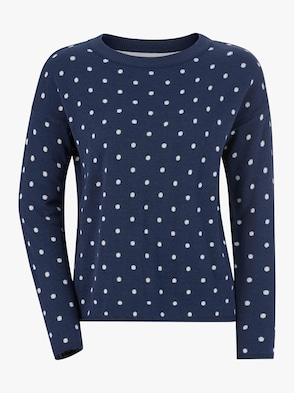 Pullover - jeansblau-meliert