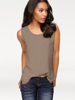 Linea Tesini Shirttop - taupe