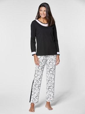 wäschepur Schlafanzug - schwarz-weiß