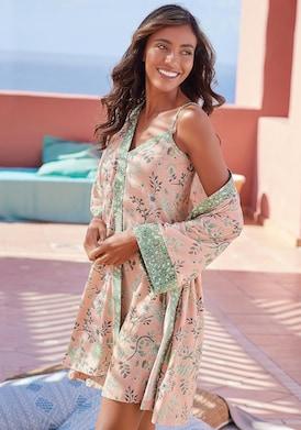 LASCANA Kimono - nude-schilfgrün