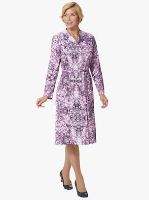 Jersey-Kleid - flieder-bedruckt