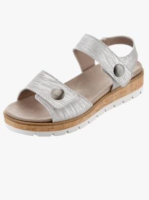 ACO Sandalette - silberfarben