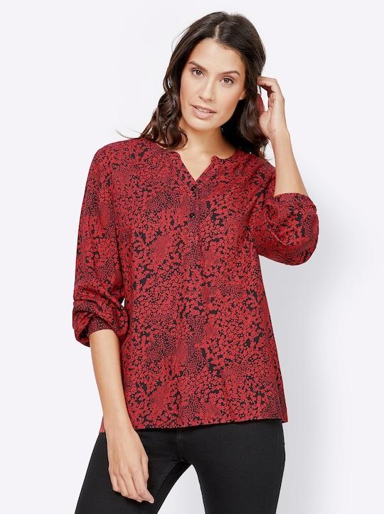 Bluse - rot-bedruckt