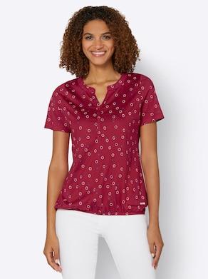 Collection L Shirt - kirsche-weiß-bedruckt