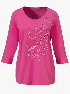 Freizeitshirt - pink-bedruckt