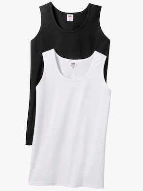 Achselshirts - weiß + schwarz