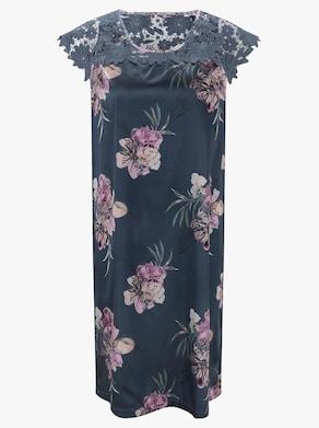 wäschepur Nachthemd - rauchblau-bedruckt
