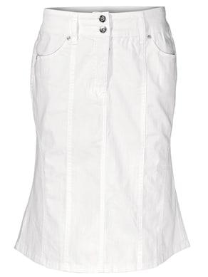Linea Tesini Jeans-Rock - weiß