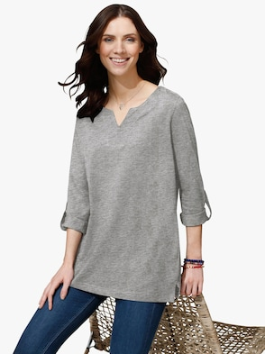 Shirt - grijs gemêleerd