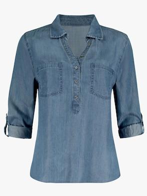 Bluse - jeansblau