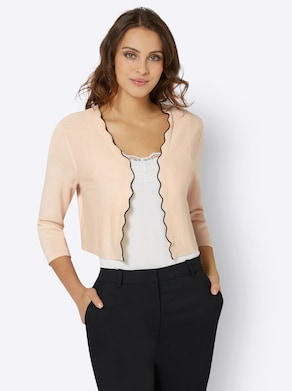 Fair Lady Strickbolero - beige