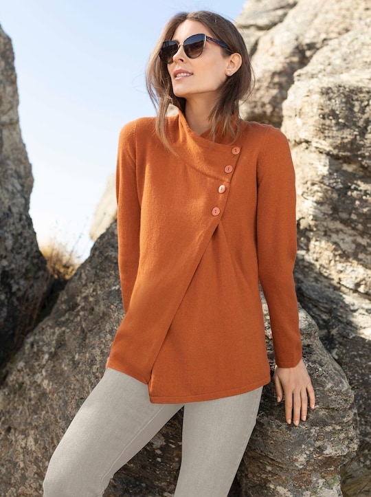Pullover - terrakotta