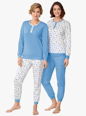 Pyjama's - ecru/blauw