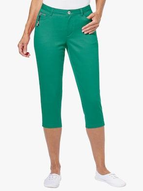 Capri-Hose - smaragd