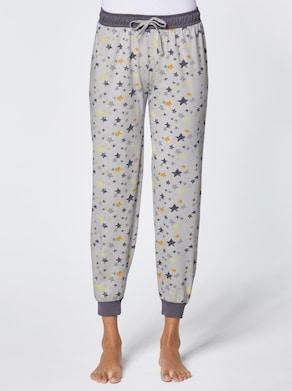 wäschepur Schlafanzug-Hose - hellgrau-gemustert