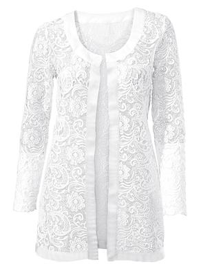 Fair Lady Shirtjacke - weiß