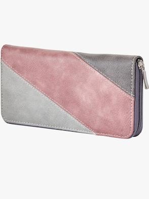 Geldbörse - grau-rosé