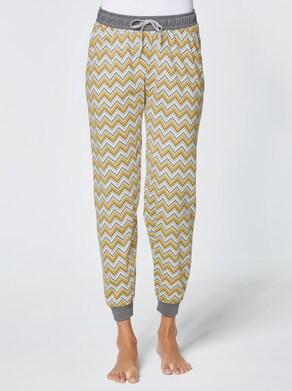 wäschepur Schlafanzug-Hose - ocker-gemustert