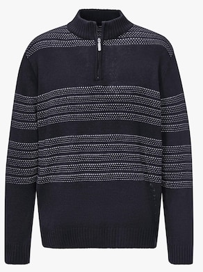 Pullover - marine/lichtgrijs