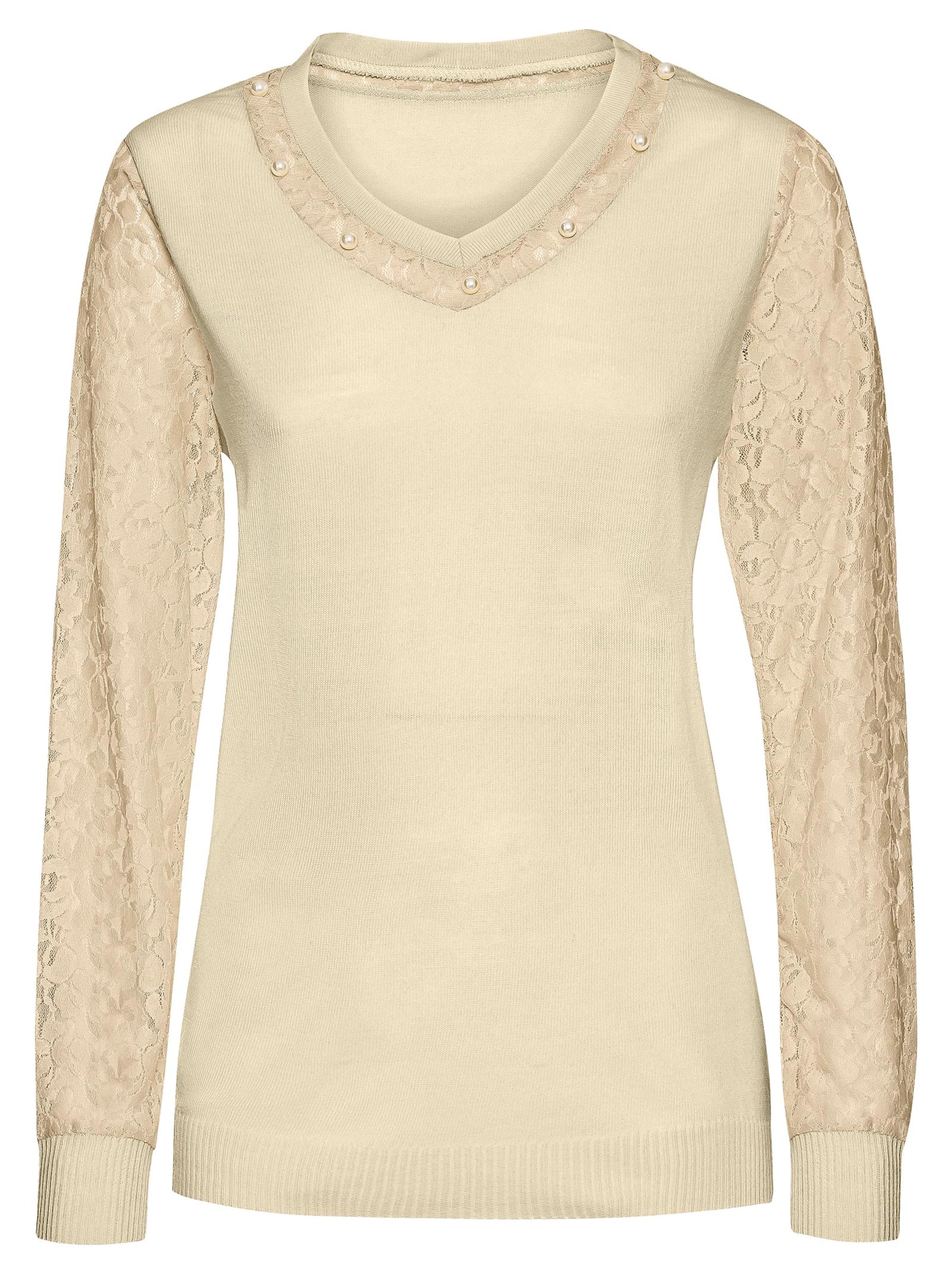 witt weiden -  Damen Spitzen-Pullover ecru
