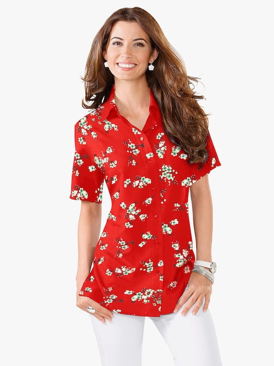 Blouse - rood geprint