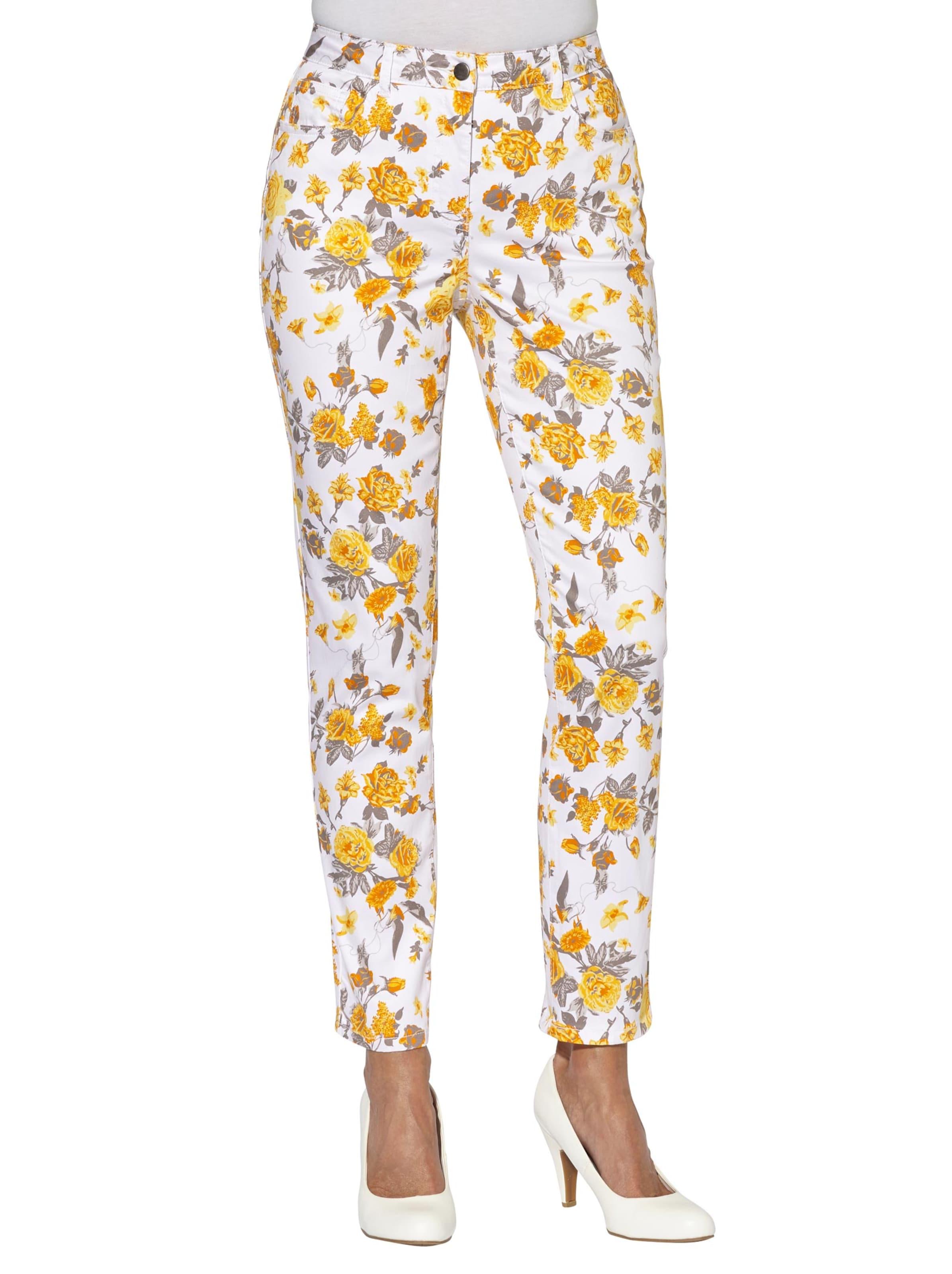 witt weiden -  Damen Hose gelb-bedruckt