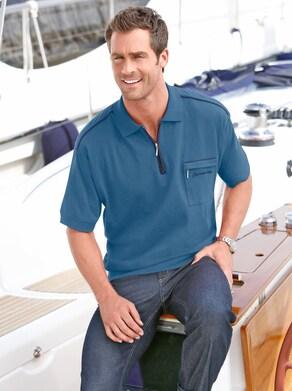 Catamaran Kurzarm-Poloshirt - jeansblau