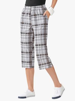 Capri-legging - zwart/wit geruit
