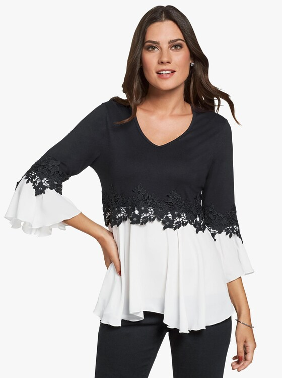 Fair Lady Shirt - schwarz-weiß