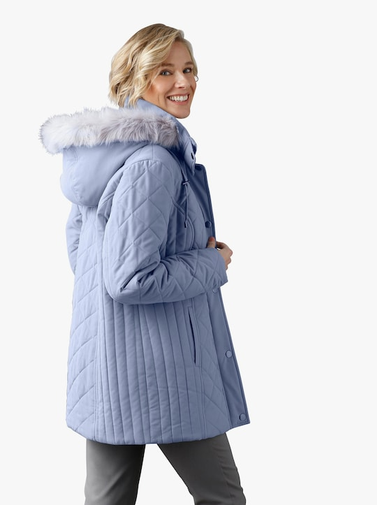 Prošívaná bunda - holubí modrá