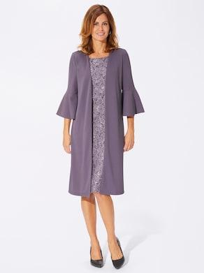 Fair Lady Jersey-Kleid - mauve