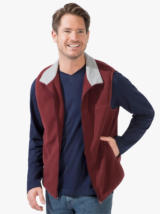 Catamaran Fleece-Weste - bordeaux