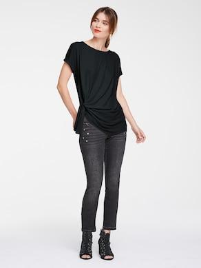 Ashley Brooke Rundhals-Shirts - schwarz