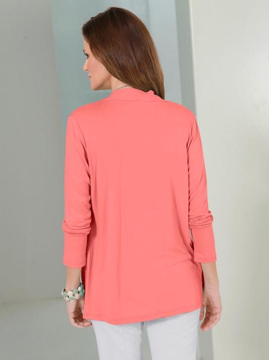 Shirtjacke - korallenrot