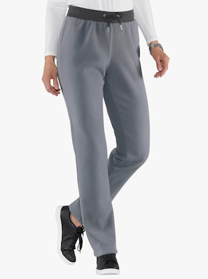 Fleecové kalhoty - šedá