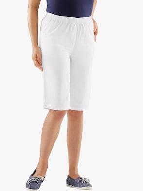 Bermuda-Jeans - weiß