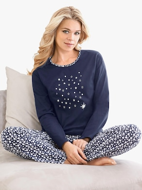 Pyžamo - námornícka modrá potlač