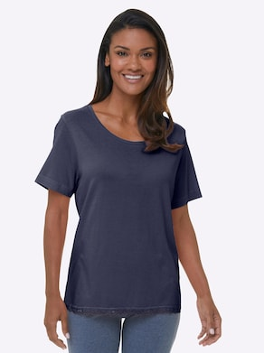 wäschepur Schlafanzug-Shirt - marine