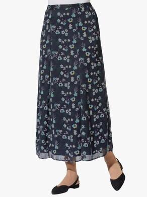 Sukně - námořnická modrá-šalvějová-potisk