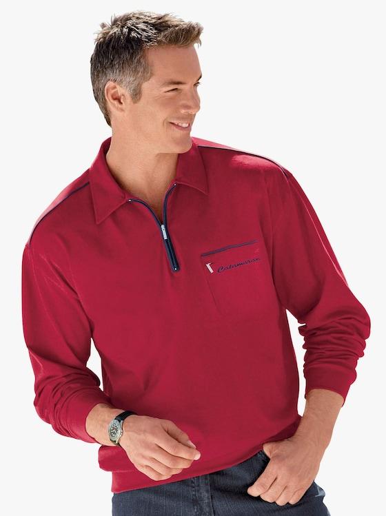 Catamaran Poloshirt met lange mouwen - rood