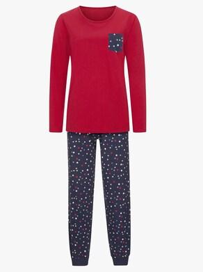 wäschepur Schlafanzug - rot-marine