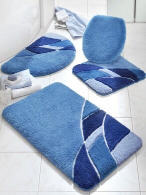 Badeteppich - blau